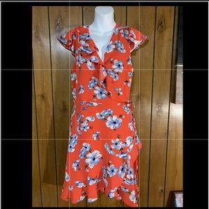 Love & Piece floral Wrap dress. Junior Sz: L